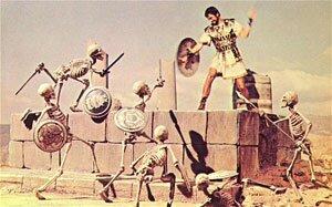 """La fameuse scène du combat des squelettes dans """"Jason et les argonautes"""""""
