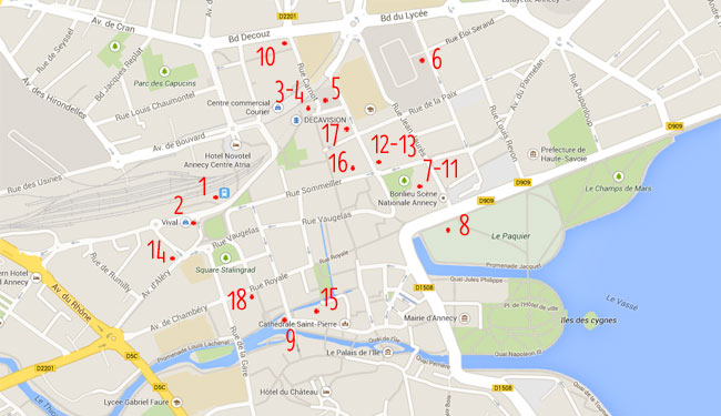 Carte issue de Google Maps